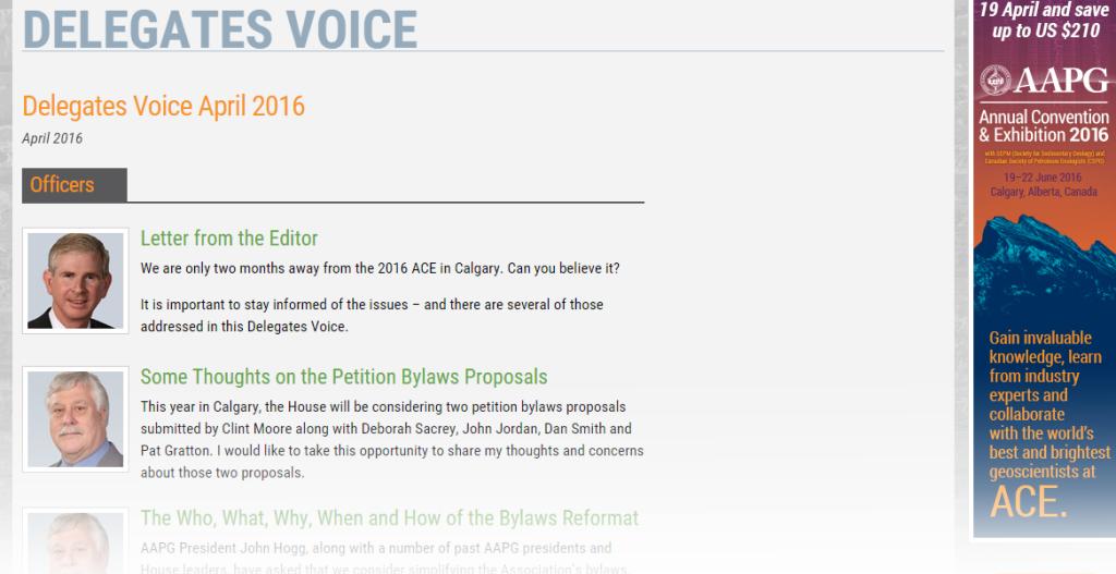 Delegates Voice April 2016